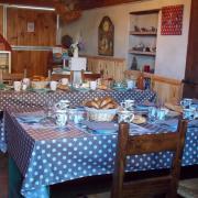 Salle des petits déj. à la ferme